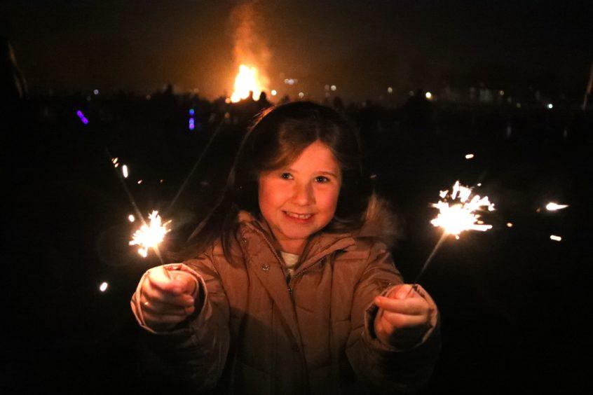 Savannah Scott at Baxter Park for the fireworks.