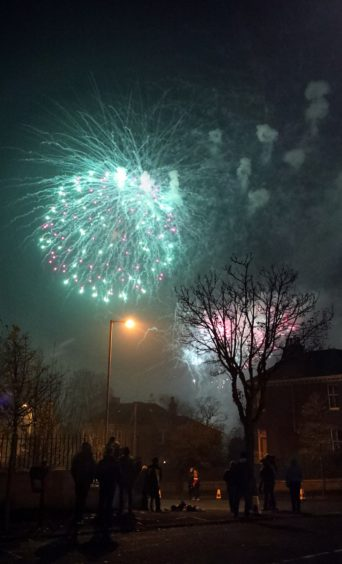 Fireworks at Baxter Park.