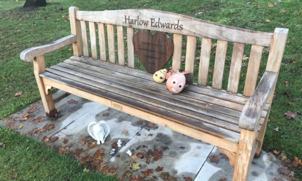 Harlow's bench has been restored after vandalism at the weekend.