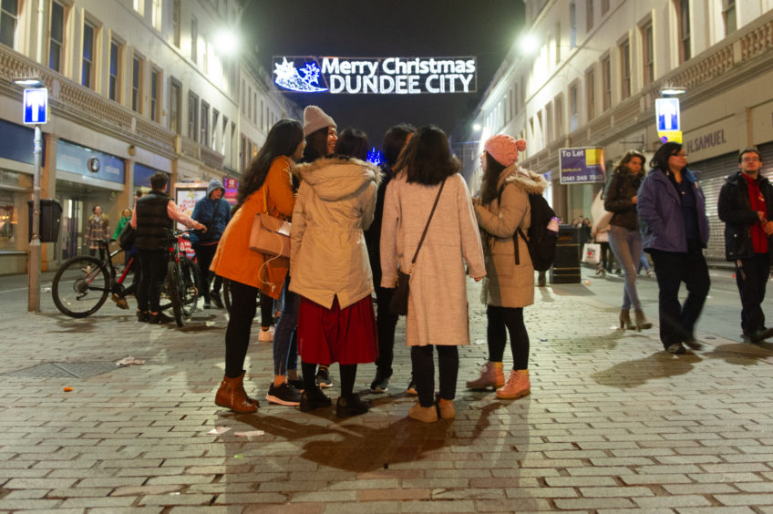 The Christmas Lights switch-on in Dundee.