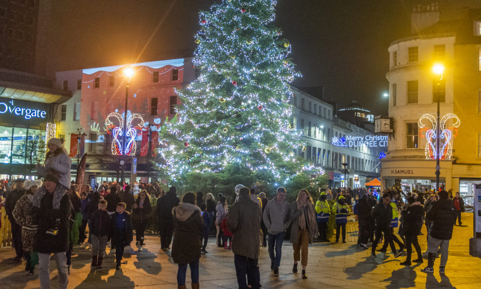 Dundee Christmas Lights night in 2018.