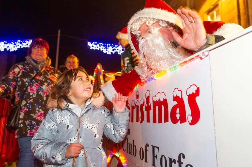 The Forfar lights have been popular with families.