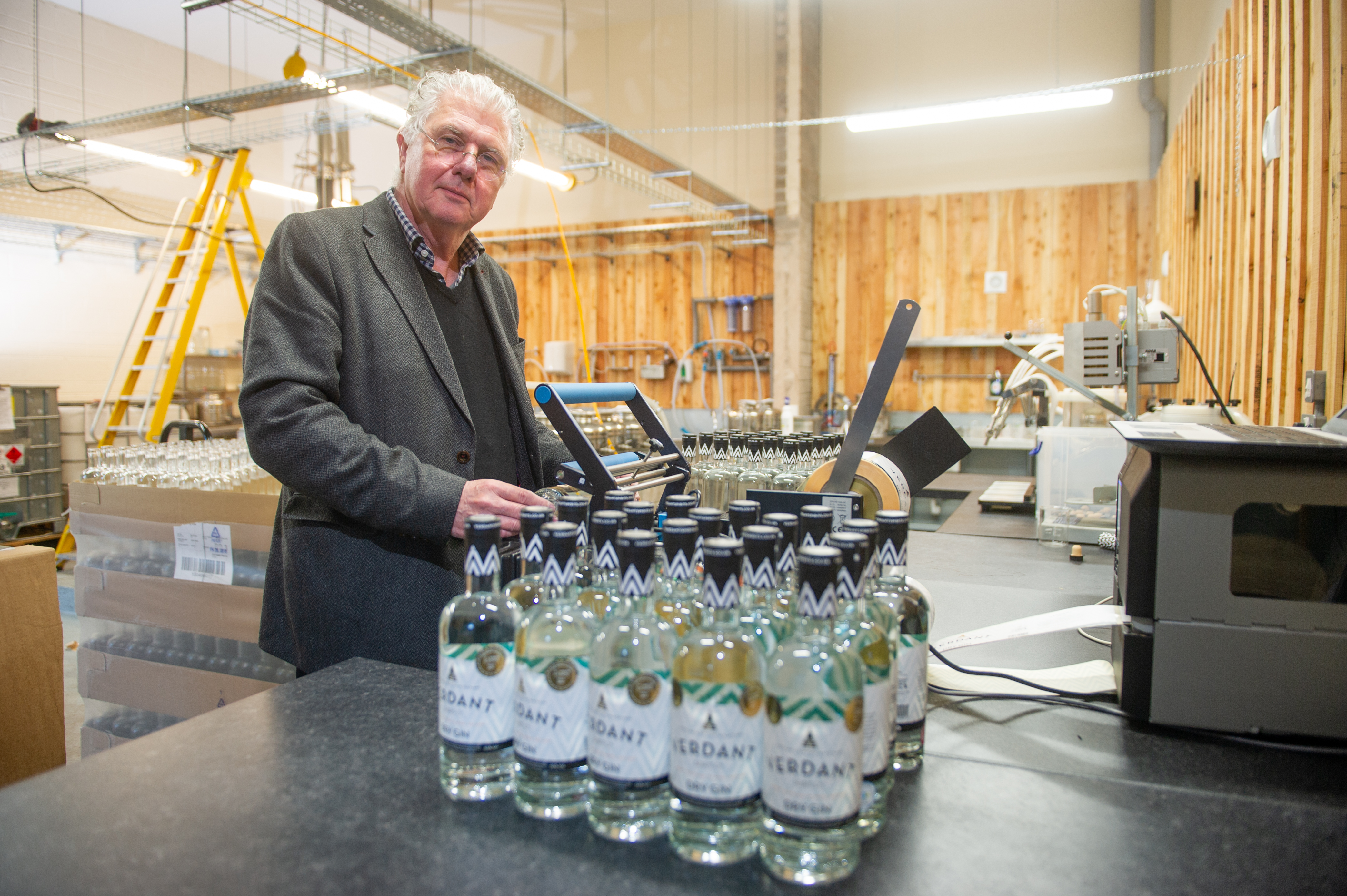 Founder and managing director of Verdant Spirits, Andrew Mackenzie has started a crowdfunding campaign as he prepares to launch a gin school and visitor centre. Picture: Kim Cessford.