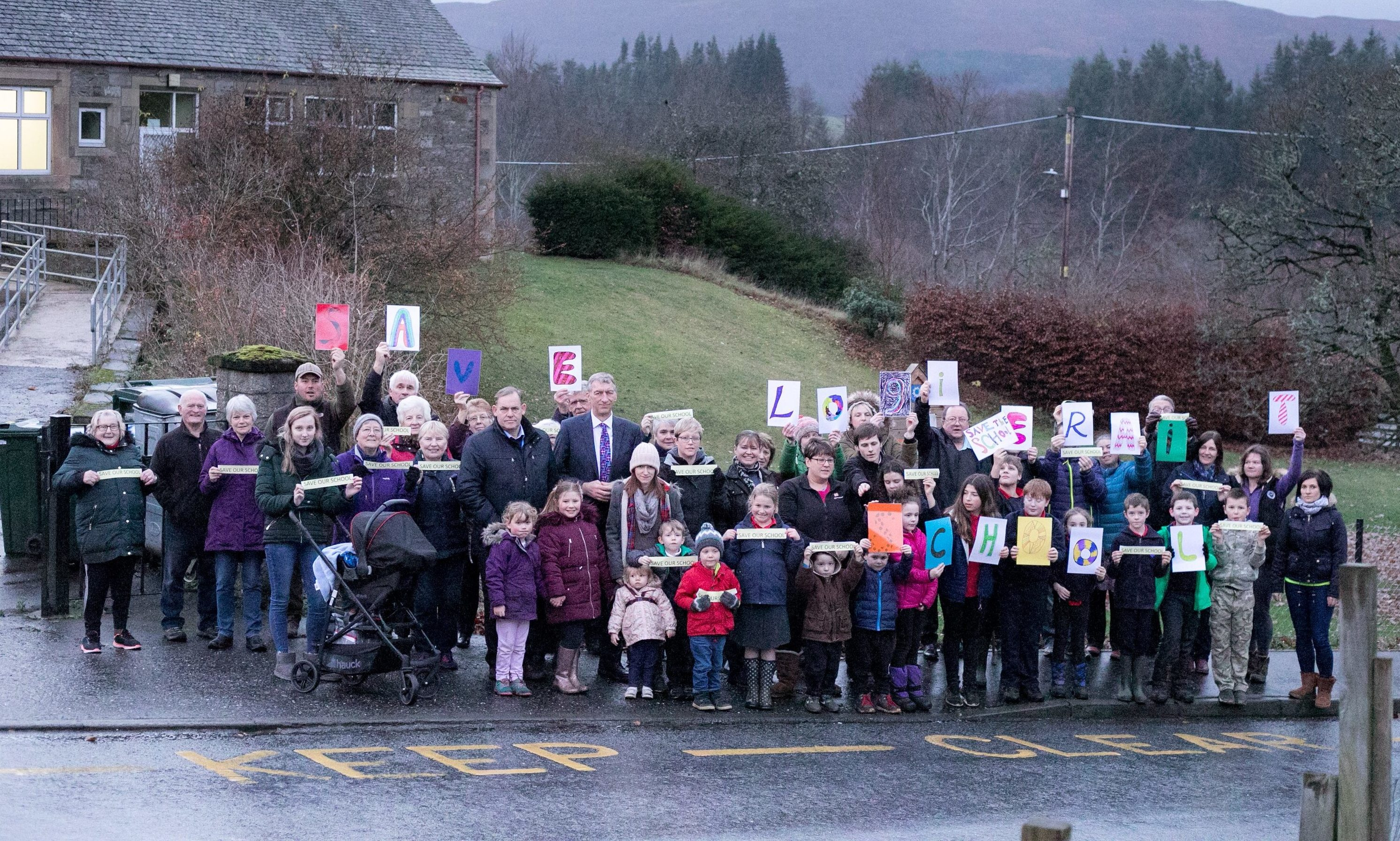 Parents, pupils and politicians made a stand for the future of Logierait Primary.