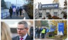 Michelin officially announced its closure 'by 2020' to staff in Dundee on Tuesday, November 6.