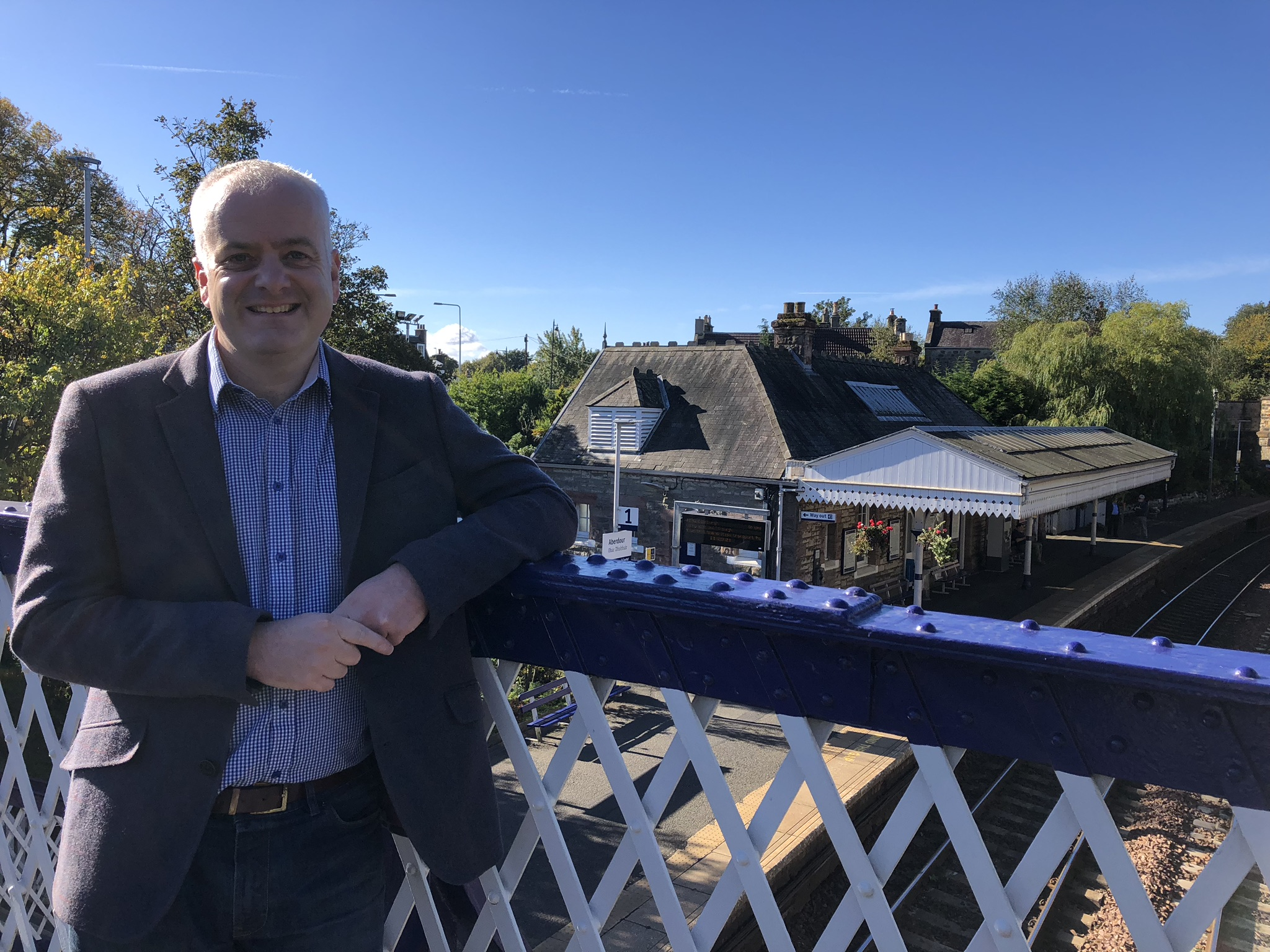 Mark Ruskell at Aberdour station