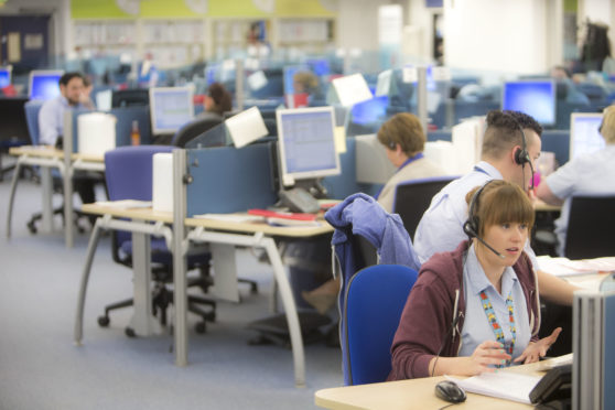 Staff at work in a call centre. (file pic)
