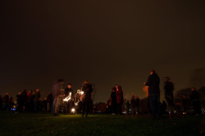 Bonfire night at South Inch, Perth.