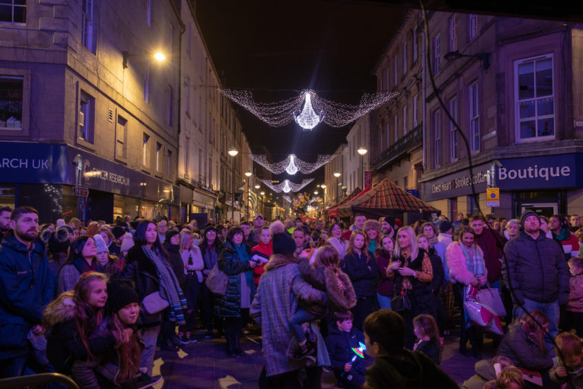 Crowds gathered for the Perth Christmas Lights switch-on in 2018