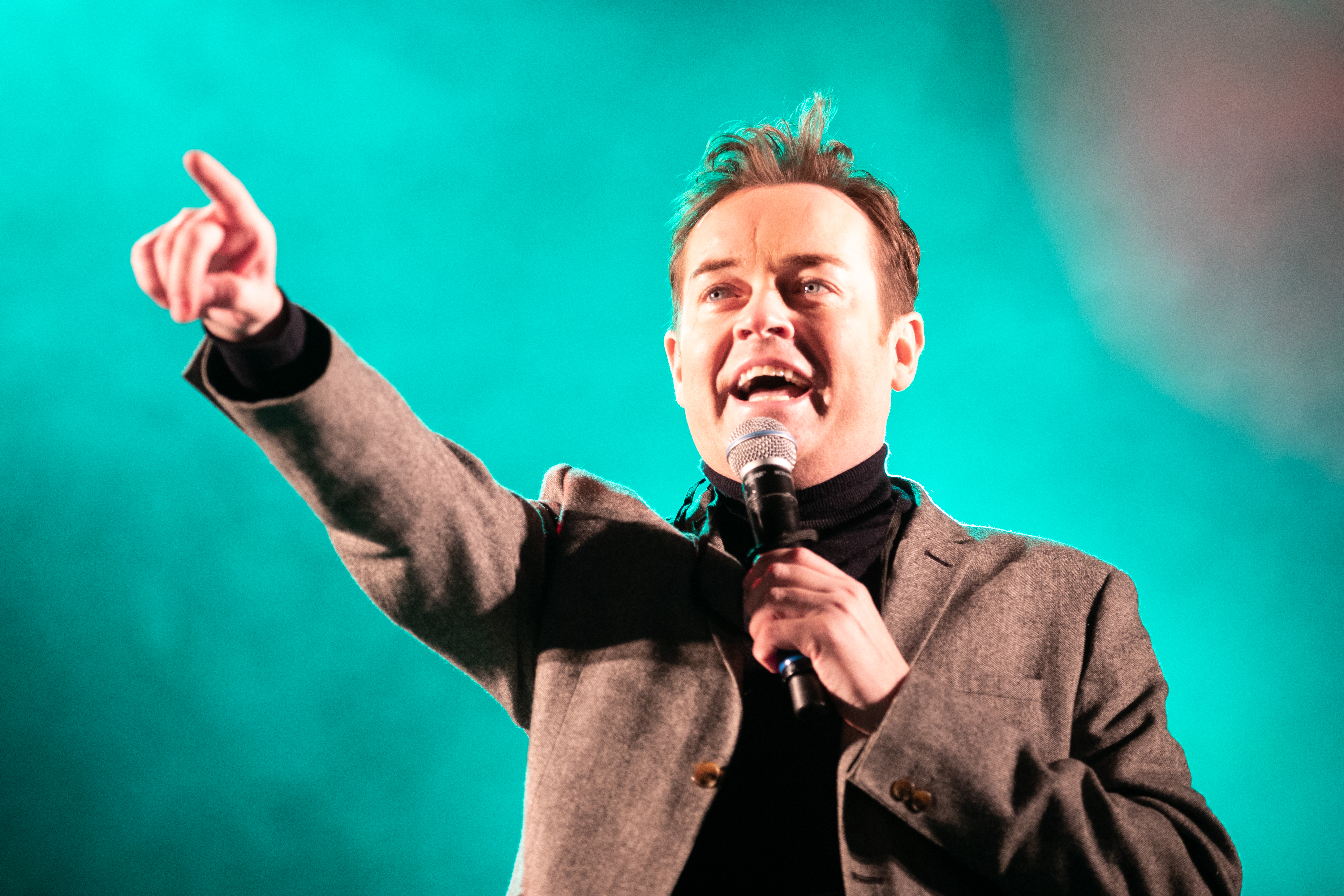 Stephen Mulhern on the main stage during the City of Perth Winter Festival.