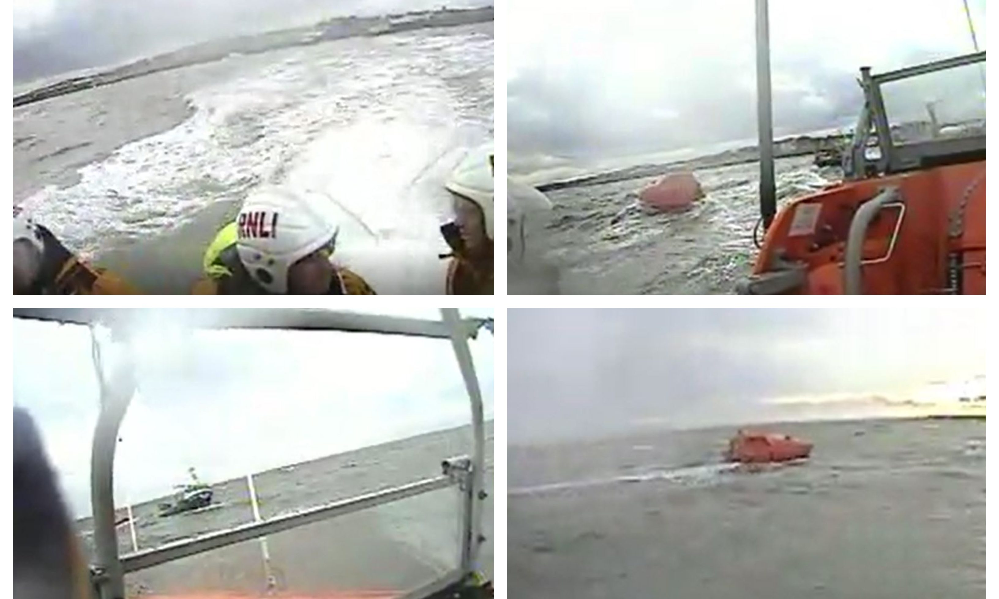 Footage from the RNLI 'ghost ship' call out.