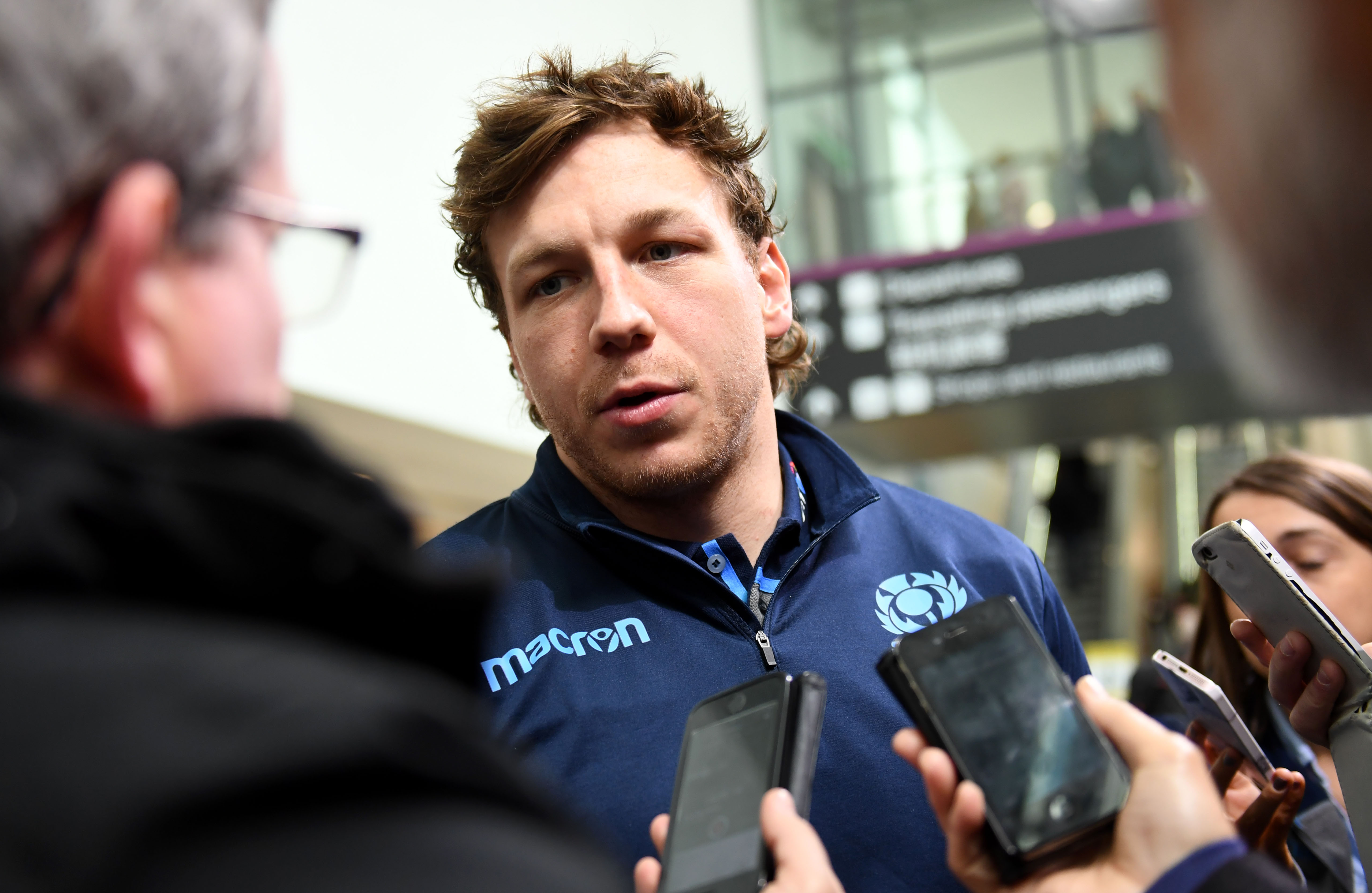 Hamish Watson speaks to the press ahead of flying out to Wales for the Doddie Weir Cup.