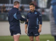 """Scotland's Greig Laidlaw admits he sometimes """"gives a little look"""" to keep Finn Russell in check."""