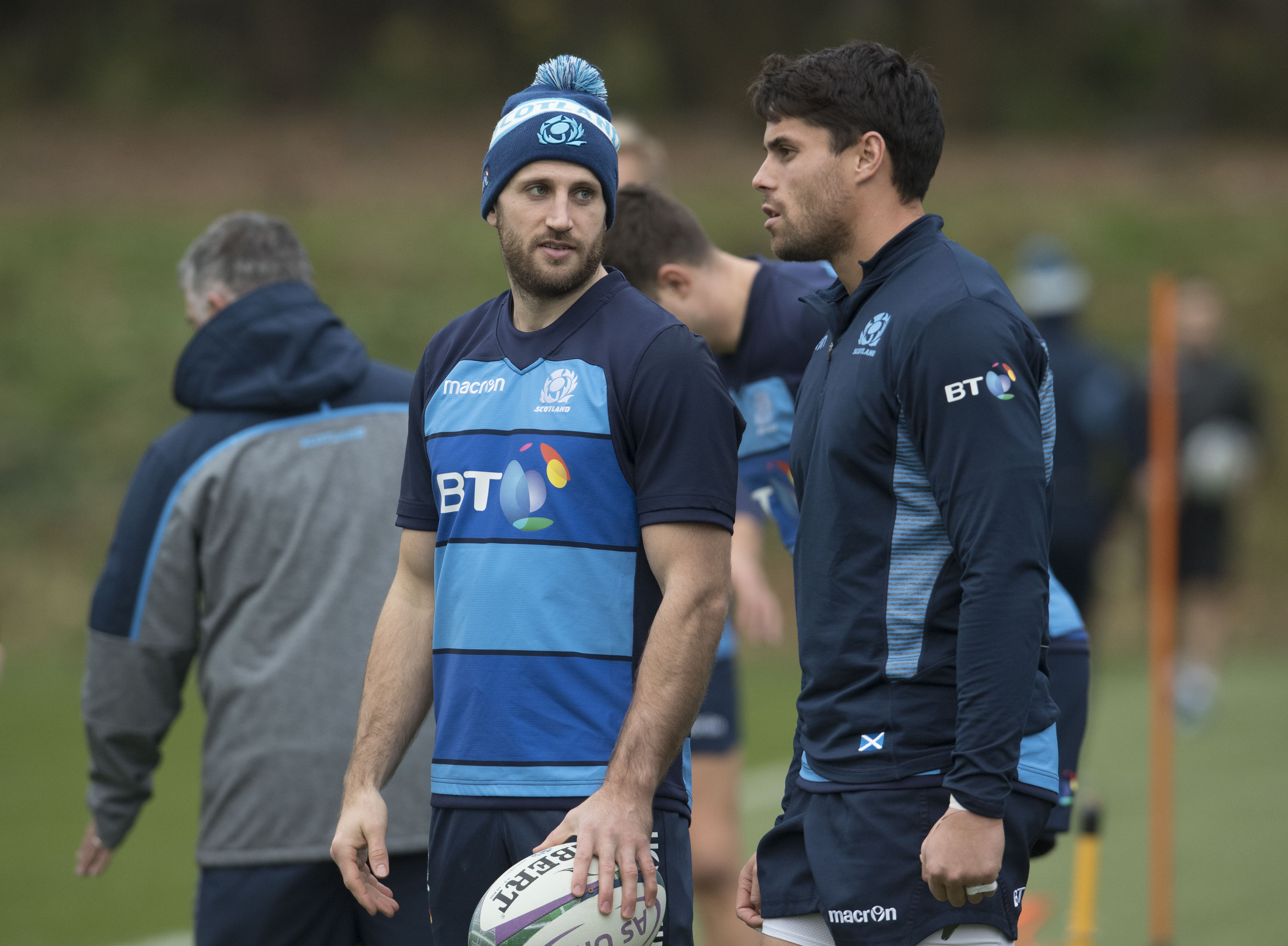 Tommy Seymour (left) and Sean Maitland are elder statesman in the Scottish back division these days.