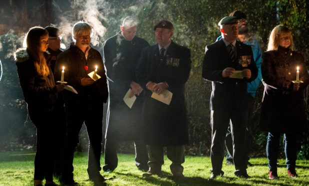 Resisents of Perthshire village, Stanley, held a memorial service on Sunday evening, to mark the 53 locals who gave their lives.