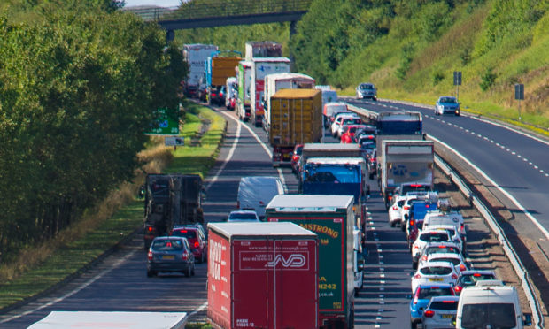 A photo showing traffic on the A92 near Kirkcaldy on a different occasion.