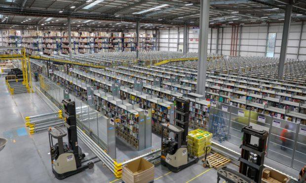 Amazon's 'fulfilment centre' in Dunfermline.