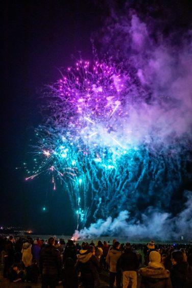 Burntisland fireworks light up the sky.