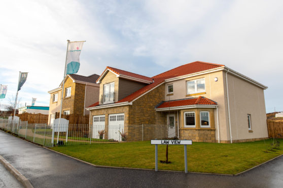 Campion Homes' Law View housing development in Leven.