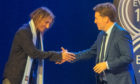 Claudio Caniggia with host David Tanner.