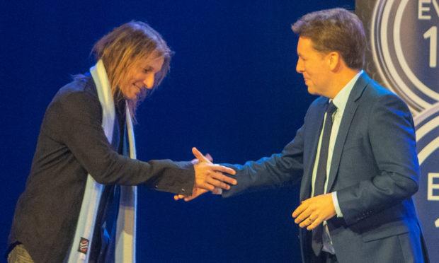Claudio Caniggia with host David Tanner.
