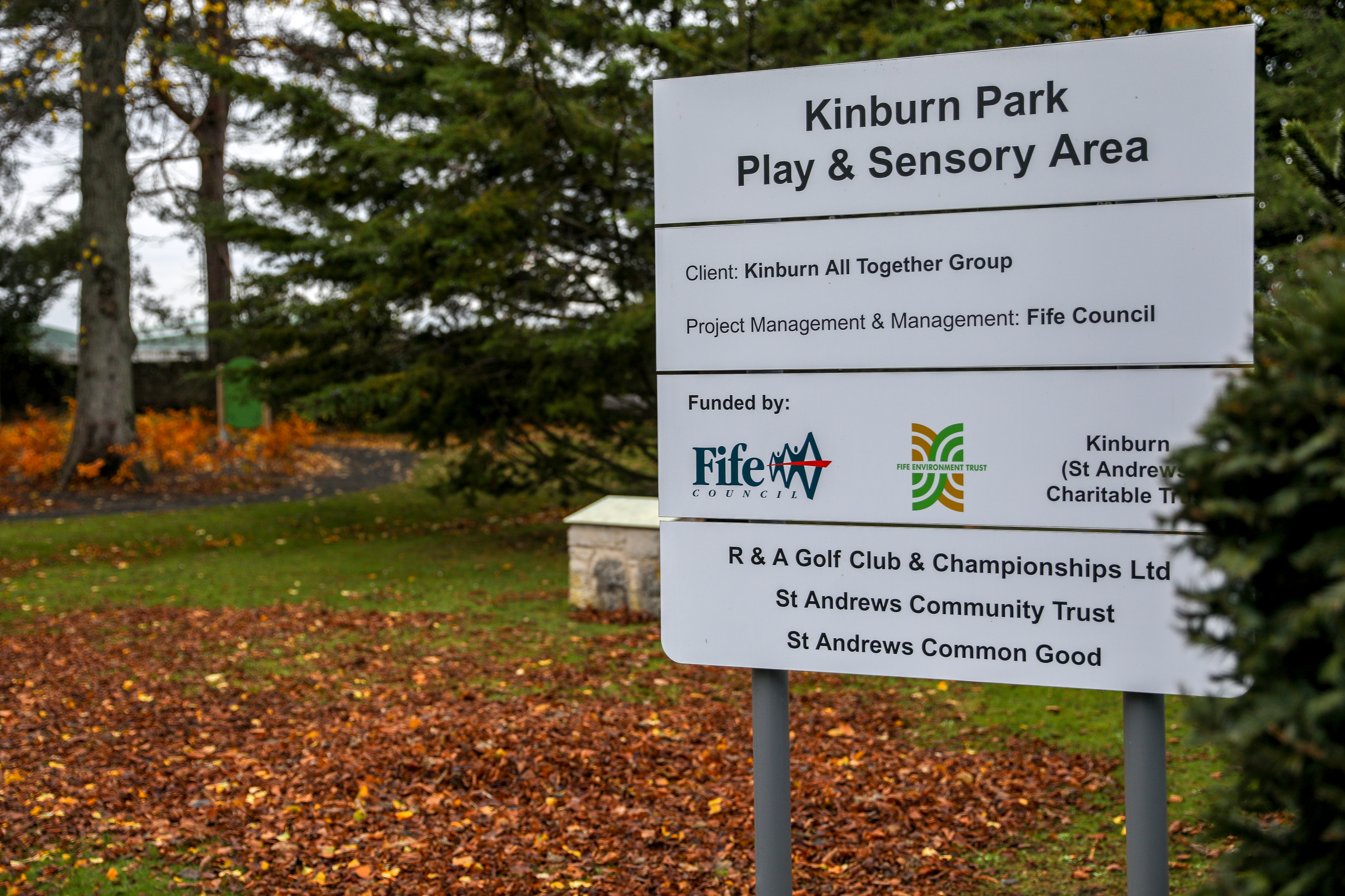 An area around Kinburn Park was cordoned off as police investigated the assault allegation