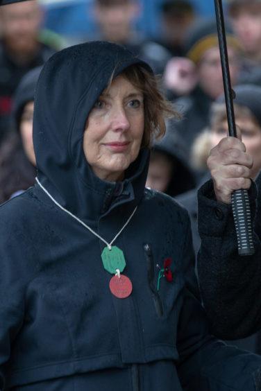 The silent march in Cellardyke.