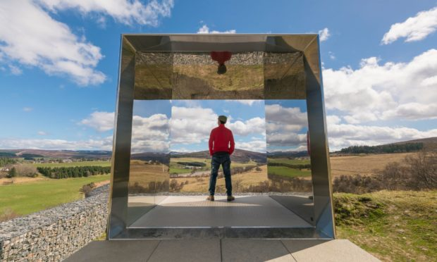 One of three art installations placed along the route at Tomintoul. Photo credit VisitScotland