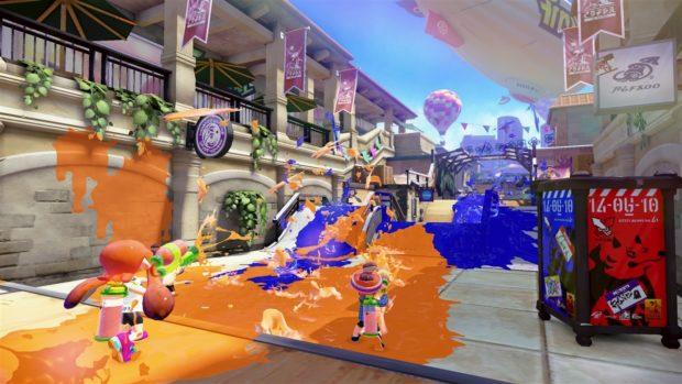 A screenshot from the Nintendo game Splatoon.