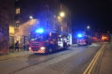 The Scottish Fire and Rescue Service at the scene in St Catherine's Square.