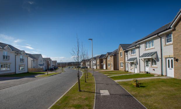 Stewart Milne's Monarch's Rise development in Arbroath.