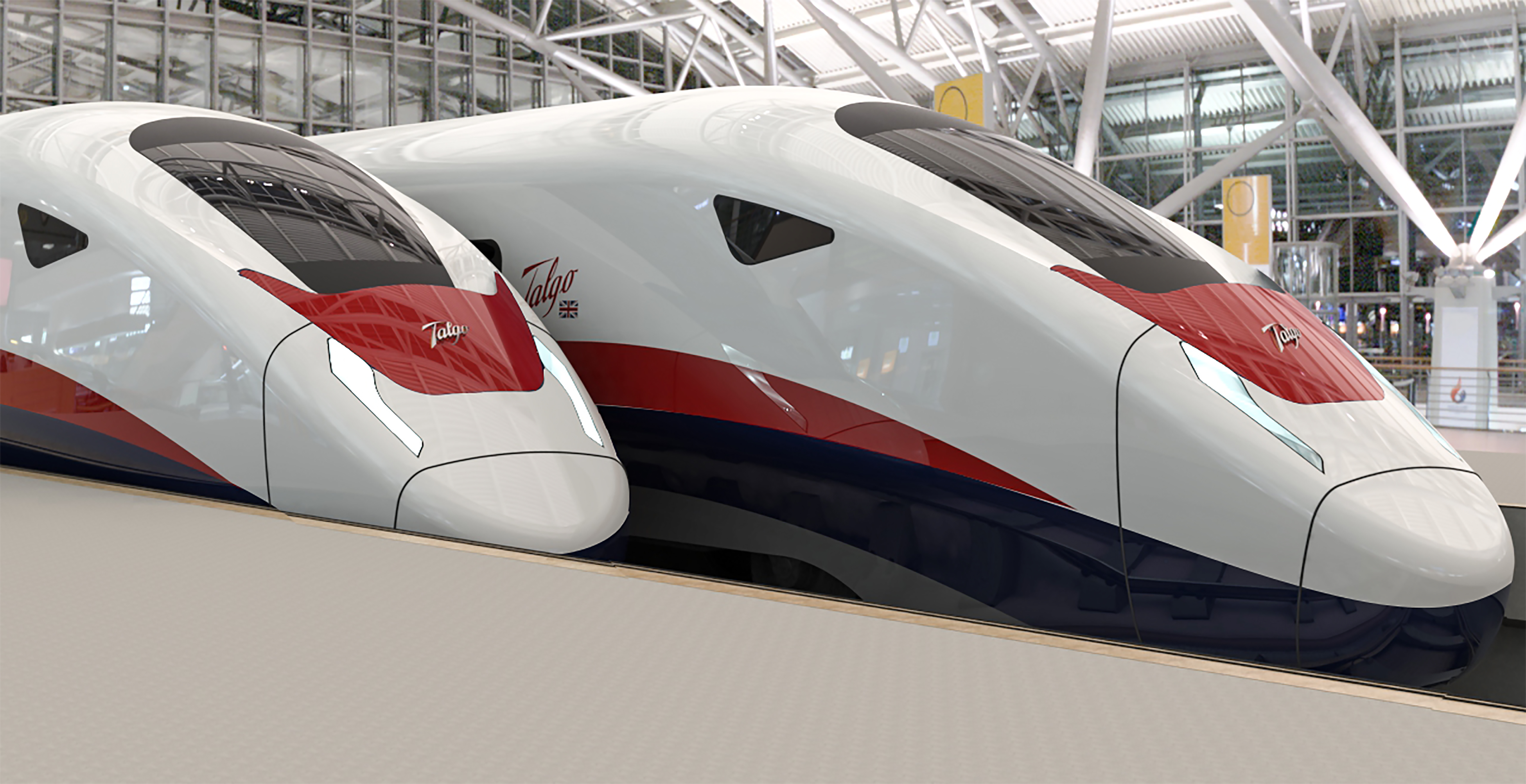 Some of the new trains being manufactured by Talgo.