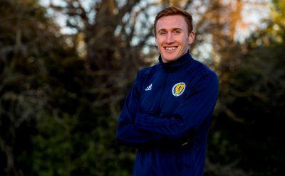 David Bates at Scotland's training camp near Edinburgh..