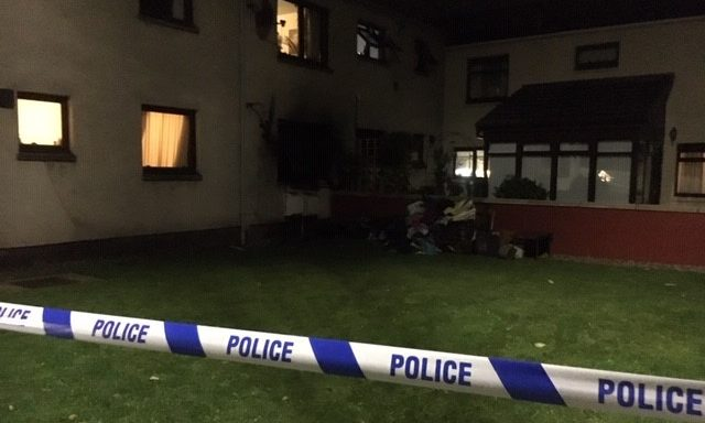 The fire started in a ground floor flat