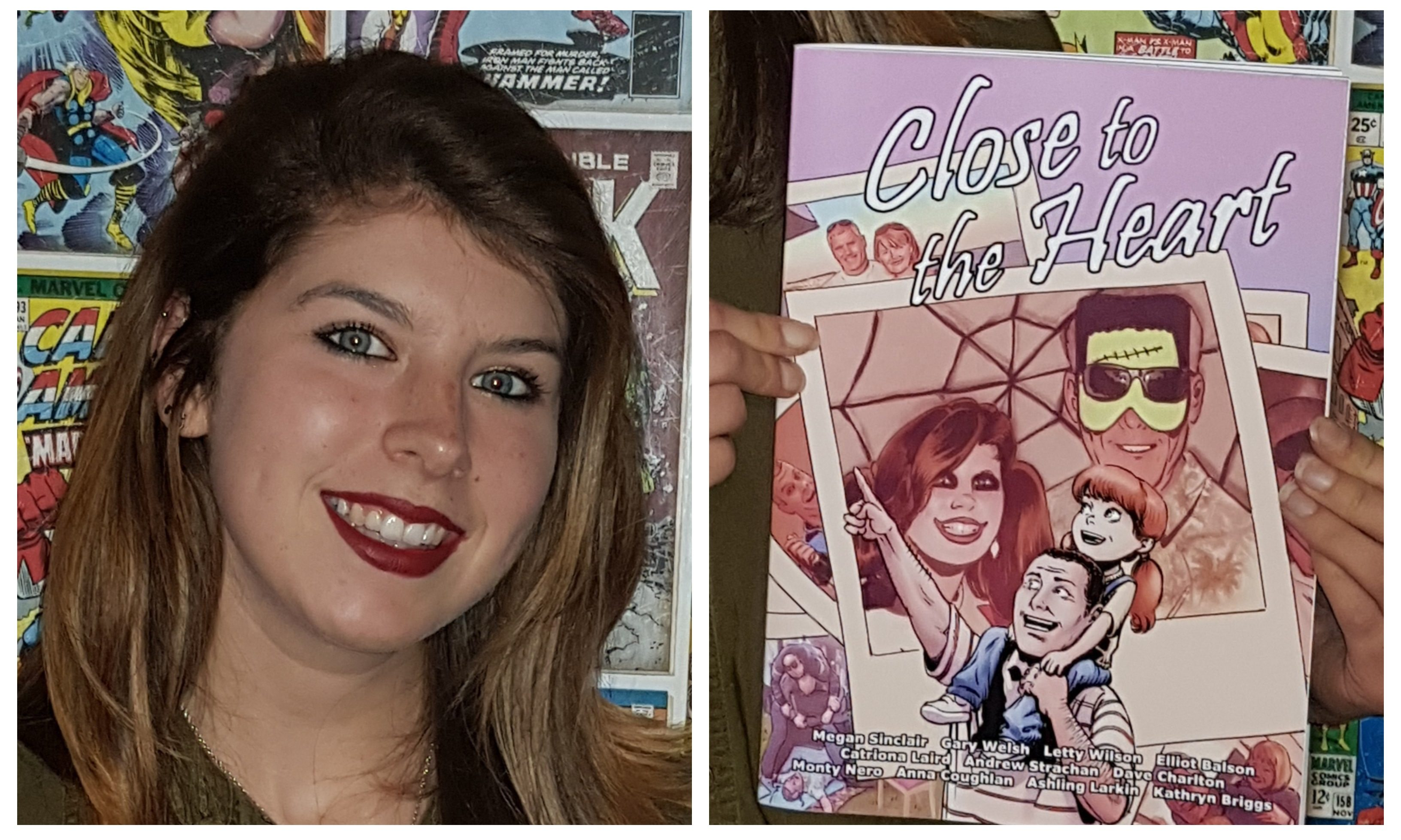 Megan and her Close to the Heart comic book.