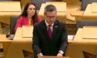 Derek Mackay updates parliament on Michelin Dundee on Tuesday evening.