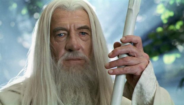 Sir Ian McKellen as Gandalf in The Lord of the Rings: The Two Towers.