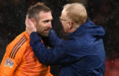 Alex McLeish with Allan McGregor.