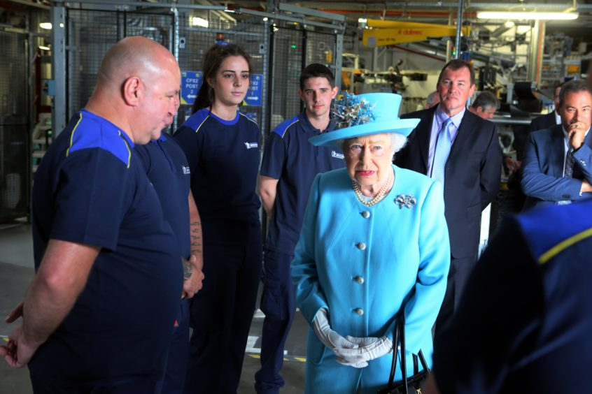 The Queen visited Michelin  Dundee in 2016.