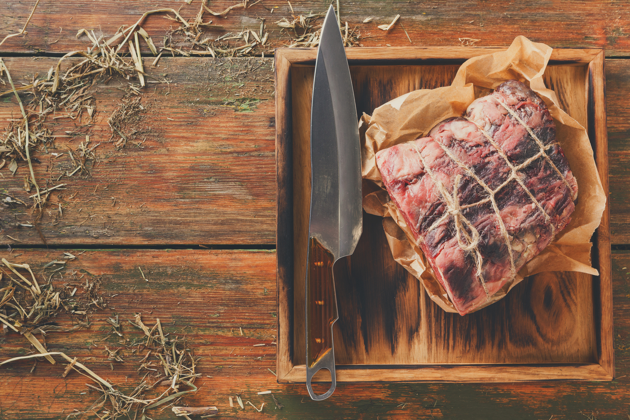 Beef Wellington starts with a fine fillet of Scotch beef.