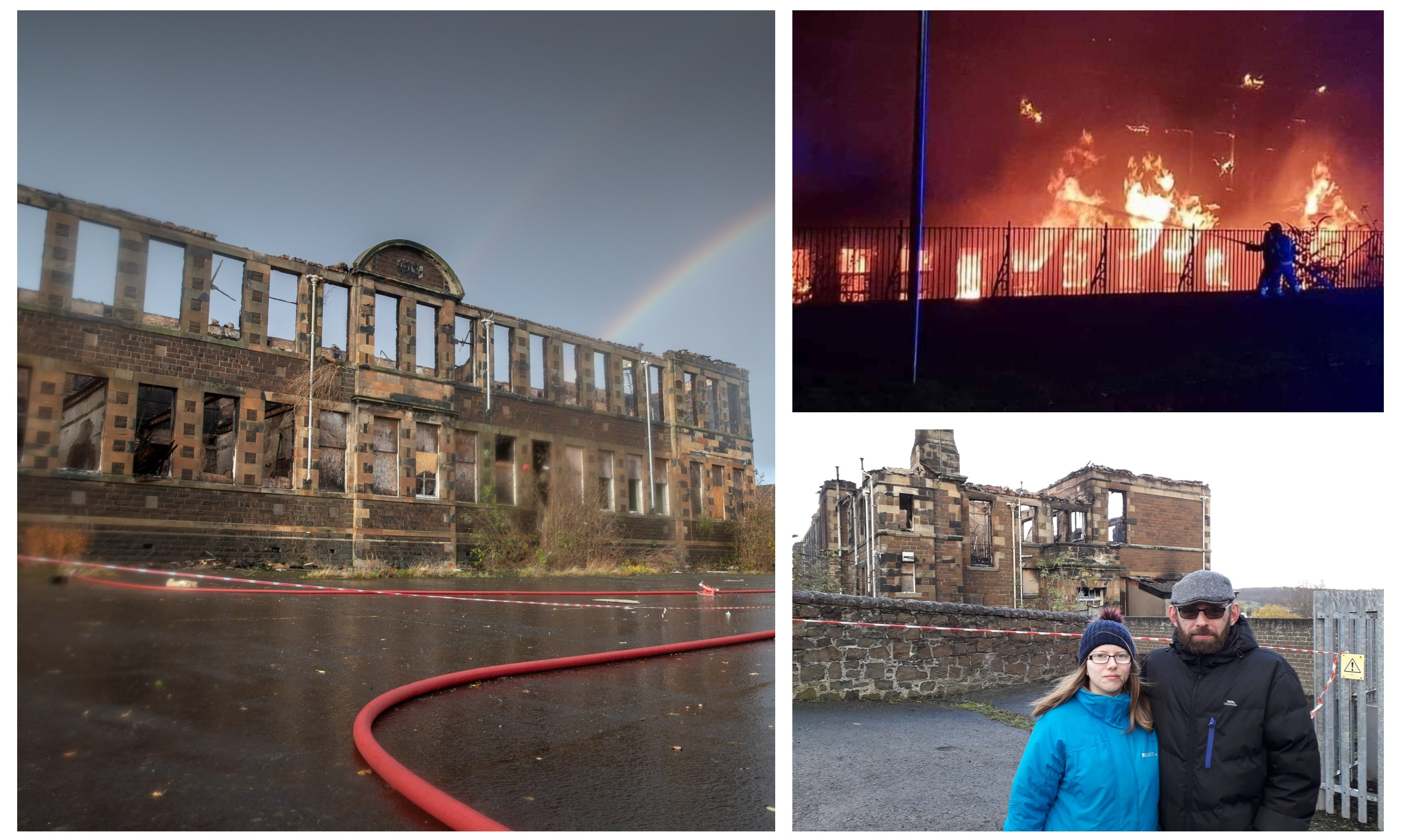 Nathalie and Jim were forced to flee the area during the Inverkeithing school blaze.
