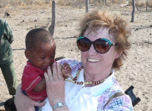 June Paladini during a humanitarian trip to Sri Lanka in 2003.