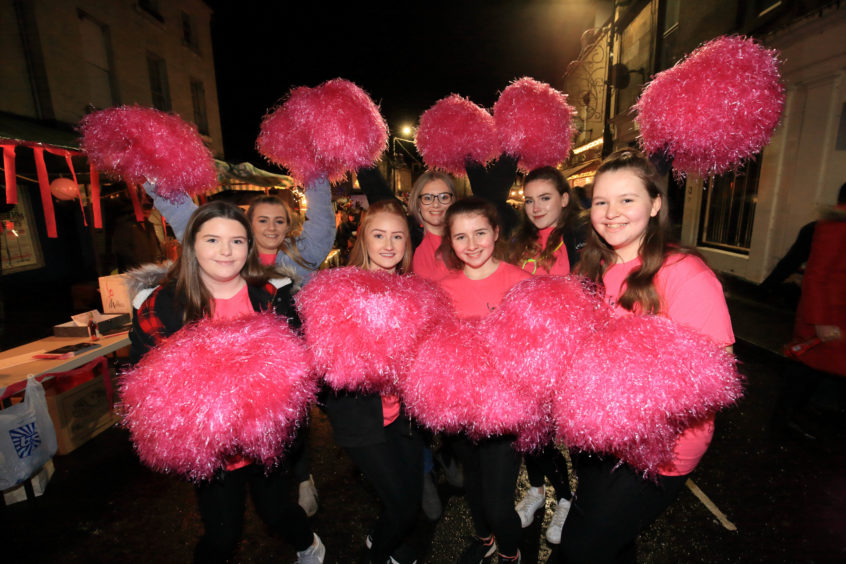 Girls from the Mathew Dance Academy in Milnathort entertained the crowd.