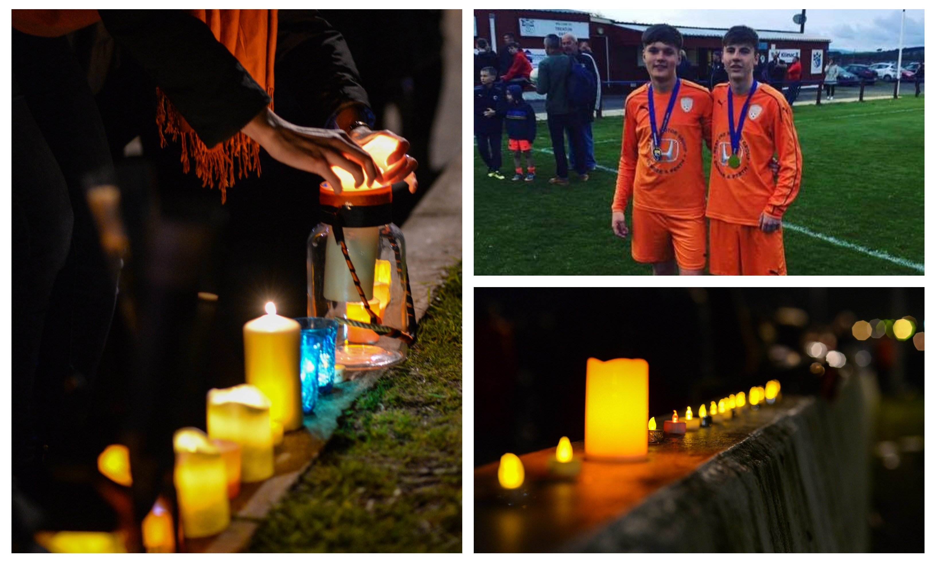 Tributes were paid to Ethan King and Connor Aird, pictured, in Kirkcaldy.