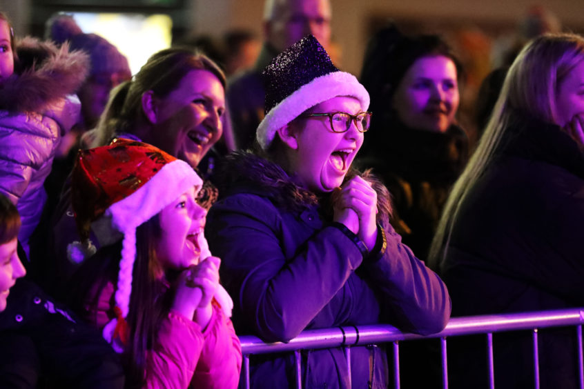 Millie Anderson, 6, and Charlotte Cook, 11, enjoying the show.