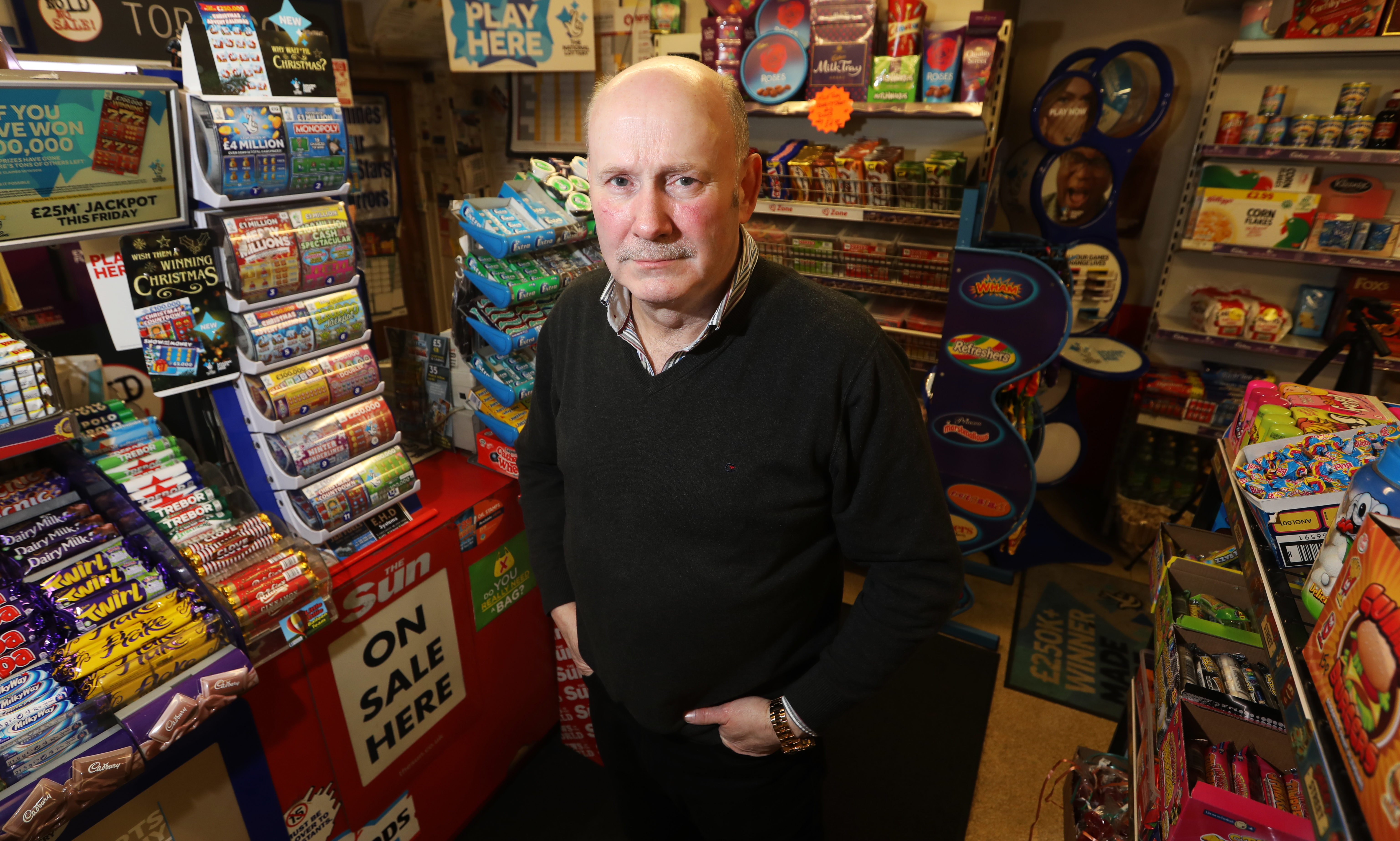 Eugene Diamond, owner of Diamonds Newsagent - the closest shop to the Michelin plant.