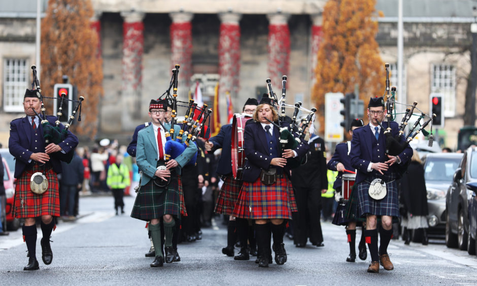 Dundee's Remembrance Day Parade and wreath-laying ceremony.