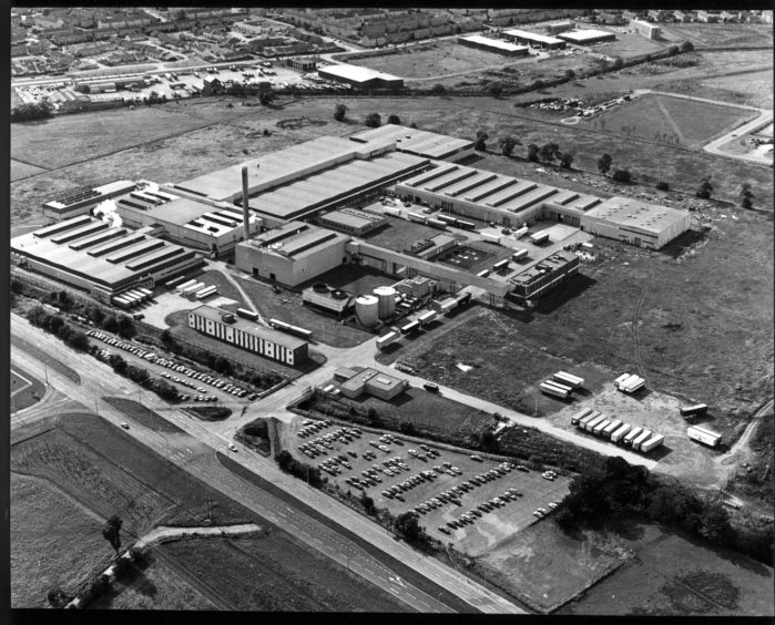 The Michelin plant in 1984.