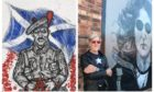 Ian Imrie's new mural (pictured left).