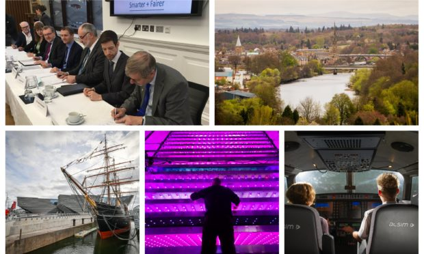The Tay Cities Deal will invest in, among other things, tourism across Tayside and Fife, the James Hutton Institute in Invergowire (bottom middle) and aviation.
